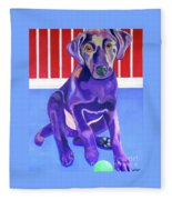Red, White And Blue Waiting For You Fleece Blanket