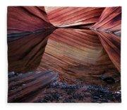 Reflection Of Cliffs In Water Fleece Blanket