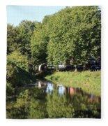 Reflections Of Bridgewater Canal - 1 Fleece Blanket