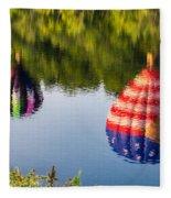 Reflections On The Androscoggin Fleece Blanket