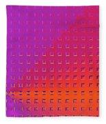 Refraction Fleece Blanket by Susan Maxwell Schmidt