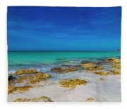 Remote Beach Paradise Turks And Caicos Fleece Blanket