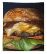 Renaissance Burger  Fleece Blanket