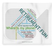 Retirement Fun Fleece Blanket