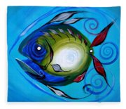 Return Fish Fleece Blanket
