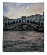 Rialto  Bridge At Sunrise Fleece Blanket