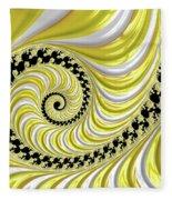 Ribbed Yellow Spiral Fleece Blanket