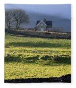 Ribblehead Station And Ingleborough North Yorkshire Fleece Blanket