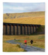 Ribblehead Viaduct In Late Autumn North Yorkshire Fleece Blanket
