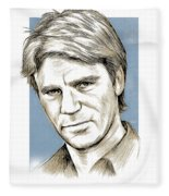 Richard Dean Anderson Color Fleece Blanket