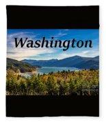 Riffe Lake, Washington Fleece Blanket