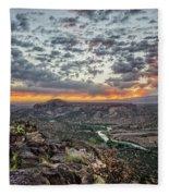 Rio Grande River Sunrise 2 - White Rock New Mexico Fleece Blanket