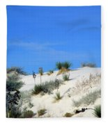 Rippled Sand Dunes In White Sands National Monument, New Mexico - Newm500 00106 Fleece Blanket