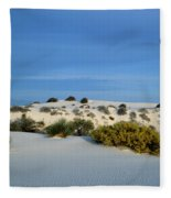 Rippled Sand Dunes In White Sands National Monument, New Mexico - Newm500 00114 Fleece Blanket