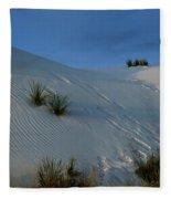 Rippled Sand Dunes In White Sands National Monument, New Mexico - Newm500 00118 Fleece Blanket