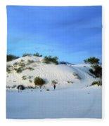Rippled Sand Dunes In White Sands National Monument, New Mexico - Newm500 00119 Fleece Blanket