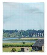 river and bridge towards Berwick upon Tweed scotland Fleece Blanket