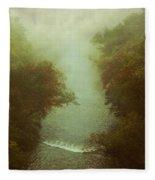 River In Fog Fleece Blanket