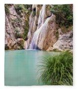 River Neda Waterfalls Fleece Blanket