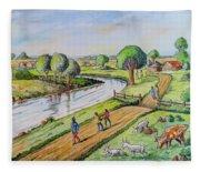 River Road Fleece Blanket