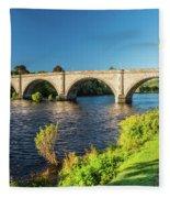 River Tay, Dunkeld, Perthshire Fleece Blanket