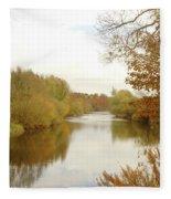 river Teviot at dusk Fleece Blanket