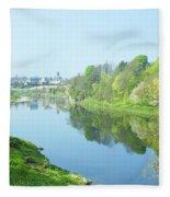 river tweed at Coldstream Fleece Blanket