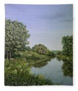 River Wey Fleece Blanket