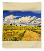 Road To Nowwhere Fleece Blanket