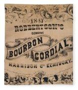 Robbertson's Kentucky Bourbon Cordial Ad C. 1857 Fleece Blanket