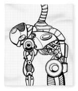 Robot Charging Fleece Blanket