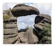 Rock Gate In The Nature Reserve Broumov Walls Fleece Blanket