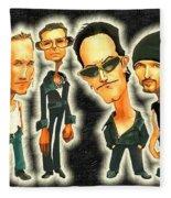 Rock N' Roll Warriors - U2 Fleece Blanket