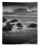 Rocks In The Storm Fleece Blanket