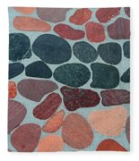 Rocks Sawed And Polished Fleece Blanket