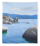 Rocky Cove On Lake Tahoe Fleece Blanket