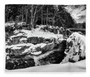 Rocky Gorge Foot Bridge N H Fleece Blanket