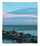 Rocky Shores Sunrise Fleece Blanket