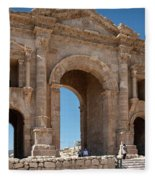 Roman Arched Entry Fleece Blanket