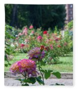 Rome Rose Garden Fleece Blanket
