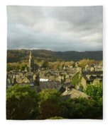 Rooftops Of Ambleside In Early Morning In The Lake District Fleece Blanket