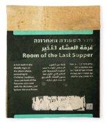 Room Of The Last Supper Fleece Blanket