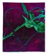 Roped Heart Fleece Blanket