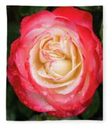 Rose And Rain - The Ice-cream Rose Fleece Blanket