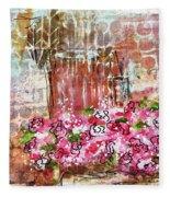 Rose Bundle With Copper Pot Fleece Blanket