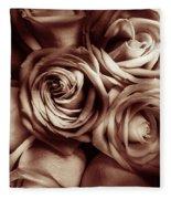 Rose Carmine Fleece Blanket