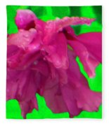 Rose Of Sharon Rain Drops Fleece Blanket