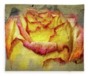 Rose Painting Fleece Blanket