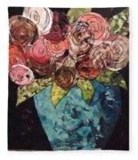 Roses For Nancy Fleece Blanket