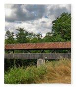 Rothenburg Covered Bridge Fleece Blanket